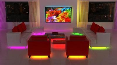 Neon Lights For Home Decor The Radiant Acrylic Coffee Table Designed By Alexandra Von Furstenberg Is A Bold And Stylish Centerpiece
